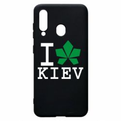 Чохол для Samsung A60 I love Kiev - з листком