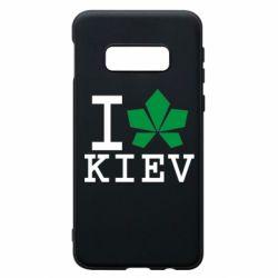 Чохол для Samsung S10e I love Kiev - з листком