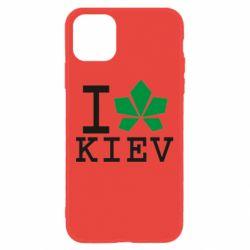 Чохол для iPhone 11 I love Kiev - з листком