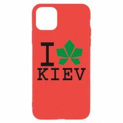 Чохол для iPhone 11 Pro Max I love Kiev - з листком