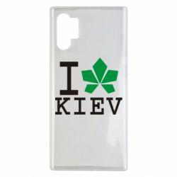 Чохол для Samsung Note 10 Plus I love Kiev - з листком