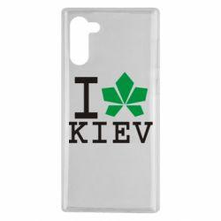 Чохол для Samsung Note 10 I love Kiev - з листком