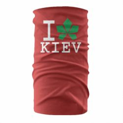 Бандана-труба I love Kiev - з листком