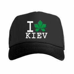 Кепка-тракер I love Kiev - с листиком - FatLine