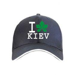 Кепка I love Kiev - с листиком - FatLine