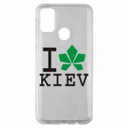 Чохол для Samsung M30s I love Kiev - з листком
