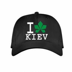 Детская кепка I love Kiev - с листиком - FatLine