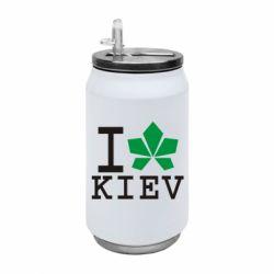 Термобанка 350ml I love Kiev - з листком