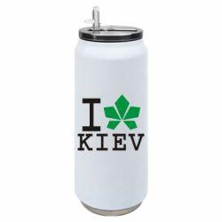 Термобанка 500ml I love Kiev - з листком