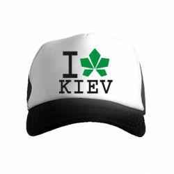 Дитяча кепка-тракер I love Kiev - з листком