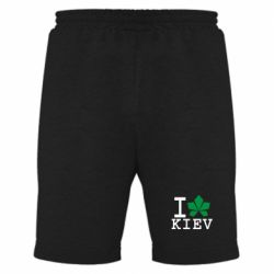 Мужские шорты I love Kiev - с листиком - FatLine