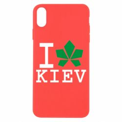 Чехол для iPhone X I love Kiev - с листиком - FatLine