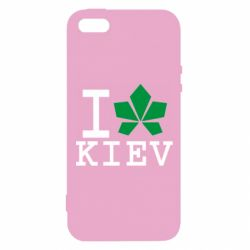 Чехол для iPhone5/5S/SE I love Kiev - с листиком - FatLine