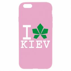 Чехол для iPhone 6/6S I love Kiev - с листиком - FatLine