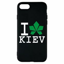 Чехол для iPhone 7 I love Kiev - с листиком - FatLine