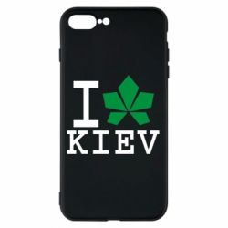 Чехол для iPhone 8 Plus I love Kiev - с листиком - FatLine