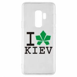 Чехол для Samsung S9+ I love Kiev - с листиком - FatLine