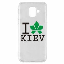 Чехол для Samsung A6 2018 I love Kiev - с листиком - FatLine