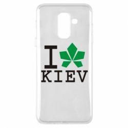 Чехол для Samsung A6+ 2018 I love Kiev - с листиком - FatLine