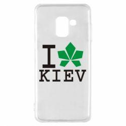 Чехол для Samsung A8 2018 I love Kiev - с листиком - FatLine