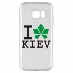 Чехол для Samsung S7 I love Kiev - с листиком - FatLine