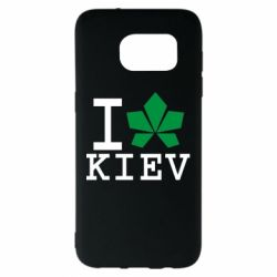 Чехол для Samsung S7 EDGE I love Kiev - с листиком - FatLine