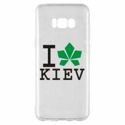 Чехол для Samsung S8+ I love Kiev - с листиком - FatLine
