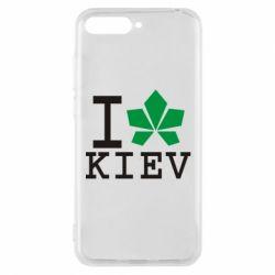 Чехол для Huawei Y6 2018 I love Kiev - с листиком - FatLine