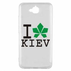 Чехол для Huawei Y6 Pro I love Kiev - с листиком - FatLine