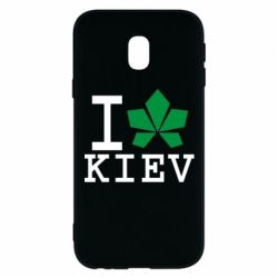 Чехол для Samsung J3 2017 I love Kiev - с листиком - FatLine