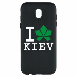 Чехол для Samsung J5 2017 I love Kiev - с листиком - FatLine