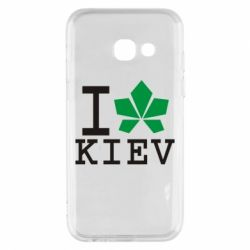 Чехол для Samsung A3 2017 I love Kiev - с листиком - FatLine