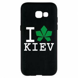 Чехол для Samsung A5 2017 I love Kiev - с листиком - FatLine