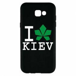 Чехол для Samsung A7 2017 I love Kiev - с листиком - FatLine