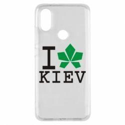 Чехол для Xiaomi Mi A2 I love Kiev - с листиком - FatLine