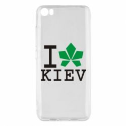 Чехол для Xiaomi Xiaomi Mi5/Mi5 Pro I love Kiev - с листиком - FatLine