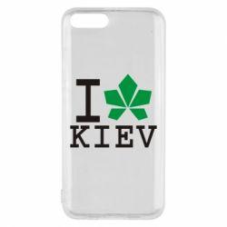 Чехол для Xiaomi Mi6 I love Kiev - с листиком - FatLine
