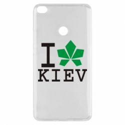 Чехол для Xiaomi Mi Max 2 I love Kiev - с листиком - FatLine