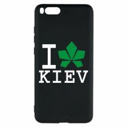 Чехол для Xiaomi Mi Note 3 I love Kiev - с листиком - FatLine