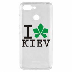 Чехол для Xiaomi Redmi 6 I love Kiev - с листиком - FatLine