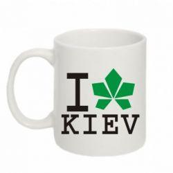 Кружка 320ml I love Kiev - с листиком - FatLine
