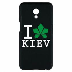 Чехол для Meizu M6s I love Kiev - с листиком - FatLine