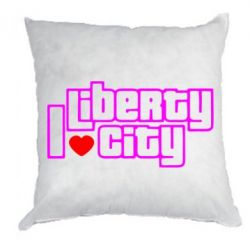 Подушка I love Liberty City - FatLine