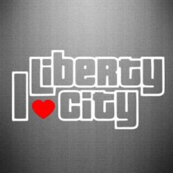 Наклейка I love Liberty City - FatLine