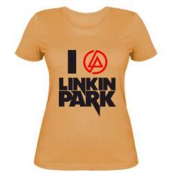 Женская футболка I love Linkin Park - FatLine