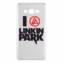 Чехол для Samsung A7 2015 I love Linkin Park