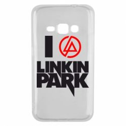 Чехол для Samsung J1 2016 I love Linkin Park