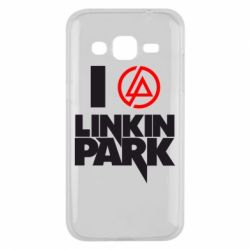 Чехол для Samsung J2 2015 I love Linkin Park