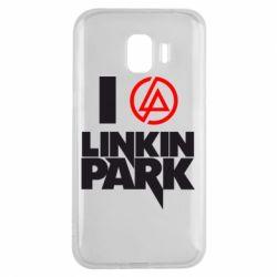 Чехол для Samsung J2 2018 I love Linkin Park