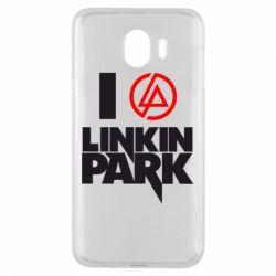 Чехол для Samsung J4 I love Linkin Park